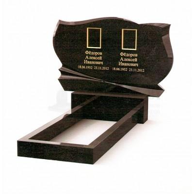 Памятник двойной из Карельского гранита ПМ-18